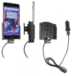 Support voiture Brodit OnePlus 3 avec chargeur allume cigare - Avec rotule. Avec câble USB. Réf 521905