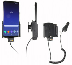 Support voiture Samsung Galaxy S8 Plus avec chargeur allume-cigare. Réf Brodit 512967