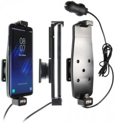 Support Samsung Galaxy S8/S9/S10 pour appareil avec étui - avec cable usb. Réf Brodit 521964