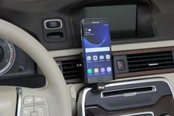 Support voiture Brodit Samsung Galaxy S7 Edge avec chargeur allume cigare - Avec rotule. Avec câble USB. Réf 521866