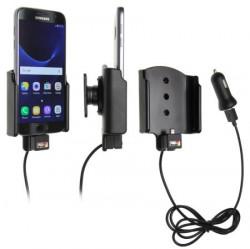 Support voiture  Brodit Samsung Galaxy S7 avec chargeur allume cigare - Avec rotule. Avec câble USB. Réf 521863