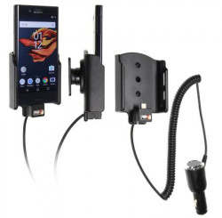 Support voiture Sony Xperia X Compact  avec chargeur allume cigare - Avec rotule orientable. Réf 512934