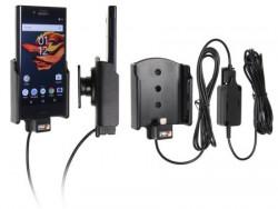 Support voiture Sony Xperia X Compact installation fixe - Avec rotule, connectique Molex. Chargeur 2A. Réf 527934