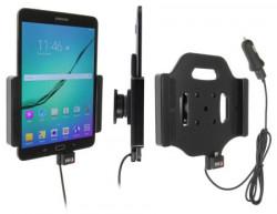 Support voiture  Brodit Samsung Galaxy Tab S2 8.0  avec chargeur allume cigare - Avec rotule. Avec câble USB. Réf 521781
