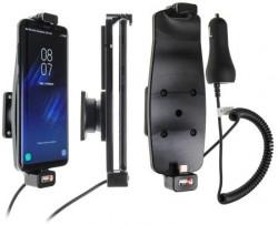Support Samsung Galaxy S8 / S9 avec étui - avec chargeur allume-cigare. Réf Brodit 512964