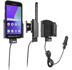 Support voiture Samsung Galaxy Xcover 4 avec adaptateur allume-cigare et cable USB. Réf Brodit 521958