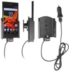 Support téléphone Sony Xperia XZ avec adaptateur allume-cigare et cable USB. Réf Brodit 521933