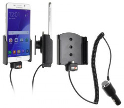 Support voiture Brodit Samsung Galaxy A5 (2016) avec chargeur allume cigare - Avec rotule orientable. Réf 512896