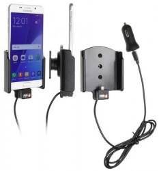 Support voiture Brodit Samsung Galaxy A5 (2016) avec chargeur allume cigare - Avec rotule. Avec câble USB. Réf 521896