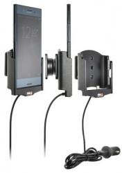 Support Sony Xperia XZ Premium avec adaptateur allume-cigare et cable USB. Réf Brodit 521974