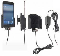 Support voiture Brodit Google Pixel installation fixe - Avec rotule, connectique Molex. Chargeur 2A. Réf 527923
