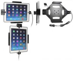Support iPad Air avec adaptateur allume-cigare et cable USB - Avec 2 clés. Pour appareil avec étui OTTERBOX DEFENDER. Réf Brodit 552600