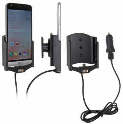 Support voiture Brodit LG G5 avec chargeur allume cigare - Avec rotule. Avec câble USB. Réf 521872