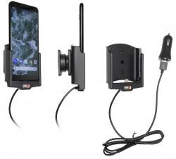 Support actif Google Pixel 3 avec adaptateur allume-cigare et cable USB. Réf Brodit 721088