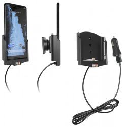 Support actif Google Pixel 3 XL avec adaptateur allume-cigare et cable USB. Réf Brodit 721089