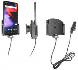 Support téléphone OnePlus 6/6T/7 pour appareil avec étui - avec adaptateur allume-cigare et câble USB. Réf Brodit 721063