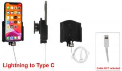 Support pour câble d'origine (non fourni) iPhone 11 pro sans étui avec revêtement peau-de-pêche - Ref 714161