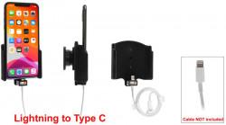 Support pour câble d'origine (non fourni) iPhone 11 Pro Max avec revêtement peau de pêche - Ref 714164