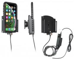 Support pour installation fixe iPhone Xs Max/11 Pro Max avec étui (largeur 80-94mm, épaisseur 2-10mm) - Ref 727083