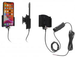 Support pour installation fixe iPhone 11 Pro Max sans étui avec revêtement peau de pêche - Ref 727164
