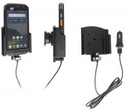 Support avec chargeur allume-cigare et câble USB CAT S48c - Ref 721131