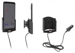 Support avec chargeur allume-cigare et câble USB Type C Google Pixel 4 XL - Ref 721177