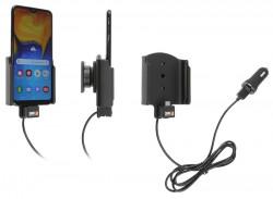 Support avec chargeur allume cigare et câble USB - Ref 721140