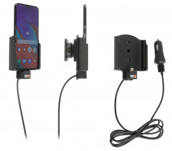 Support avec chargeur allume-cigare et câble USB Samsung Galaxy A40 (SM-A405) - Ref 721141