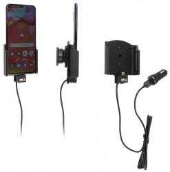 Support avec chargeur allume-cigare et câble USB Galaxy A70 (SM-A705) - Ref 721143