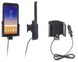 Support avec chargeur allume-cigare USB pour Galaxy Note 8 avec étui Otterbox - Ref 721021