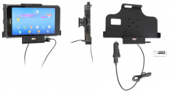 Support Samsung Galaxy Tab Active 2. SM-T390/SM-T395 avec chargeur allume cigare et sortie USB - Ref 712093