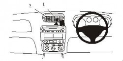 Fixation voiture Alfa Romeo GT. Réf Brodit 652865