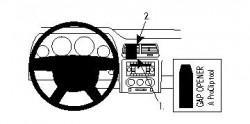 Fixation voiture ProClip Dodge Challenger - Ref 854250