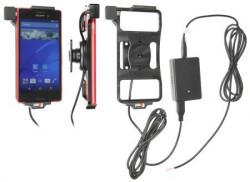 Support voiture Brodit Sony Xperia M4 Aqua installation fixe - Avec rotule, connectique Molex. Chargeur 2A. Réf 513819
