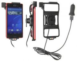Support voiture Brodit Sony Xperia M4 Aqua avec chargeur allume cigare - Avec rotule. Avec câble USB. Réf 521819