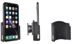 Support passif iPhone XR avec revêtement peau de pêche. Réf Brodit 711090