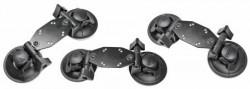 Double fixation ventouse professionnelle pour produits lourds Réf 215671