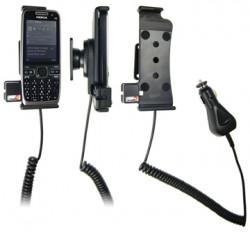 Support voiture  Brodit Nokia E55  avec chargeur allume cigare - Avec rotule orientable. Réf 512074