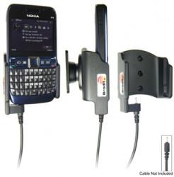 Support voiture  Brodit Nokia E63  pour fixation cable - Pour Nokia câble d'origine CA-116, CA-113CU et CA-134. Réf 515006