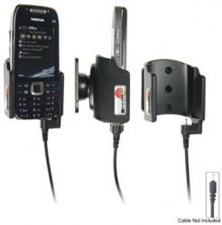 Support voiture  Brodit Nokia E75  pour fixation cable - Pour Nokia câble d'origine CA-116, CA-113CU et CA-134. Pour un montant position fermée. Réf 515009