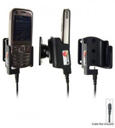 Support voiture  Brodit Nokia 6720 Classic  pour fixation cable - Pour Nokia câble d'origine CA-116, CA-113CU et CA-134. Réf 515058