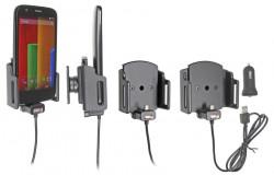 Support réglable. Convient appareils avec et sans étui de dimensions: Larg: 62-77 mm, épaiss.: 6-10 mm. Réf 521620