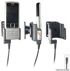 Support voiture  Brodit Nokia 6300  pour fixation cable - Pour Nokia câble d'origine CA-116, CA-113CU et CA-134. Réf 906131