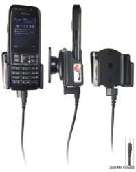 Support voiture  Brodit Nokia E51  pour fixation cable - Pour Nokia câble d'origine CA-116, CA-113CU et CA-134. Réf 906180
