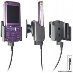 Support voiture  Brodit Nokia 6220 Classic  pour fixation cable - Pour Nokia câble d'origine CA-116, CA-113CU et CA-134. Réf 906243