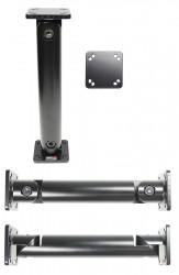 Bras métal noir orientable base AMPS de Brodit, longueur au choix