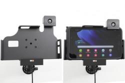 Support Samsung Galaxy Tab Active 3 verrouillé à clé avec chargeur allume-cigare. Réf Brodit 735224
