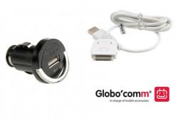 système de recharge compact en voiture iPhone