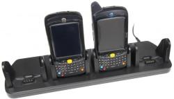 Support voiture  Brodit Motorola MC55  de table, bureau - Avec câble d'alimentation. Quatre emplacements de recharge. Réf 215593