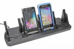 Support voiture  Brodit Motorola TC55  de table, bureau - Avec câble d'alimentation. Quatre emplacements de recharge. Pour appareil avec et sans  l'étui d'origine, convient aussi appareils avec une batterie à la fois mince et étendue. Réf 215692